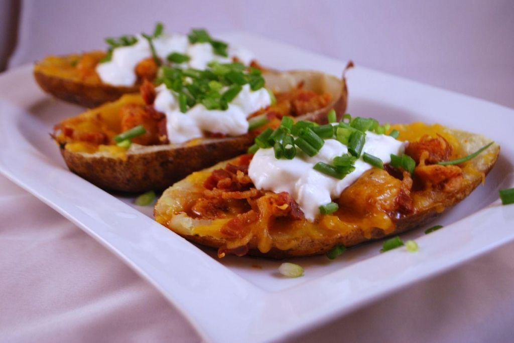 Image result for potato skins