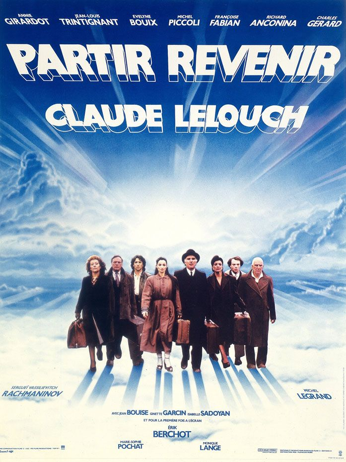 partirreveniraffiche Claude Lelouch   Partir, revenir AKA Going and Coming Back (1985)